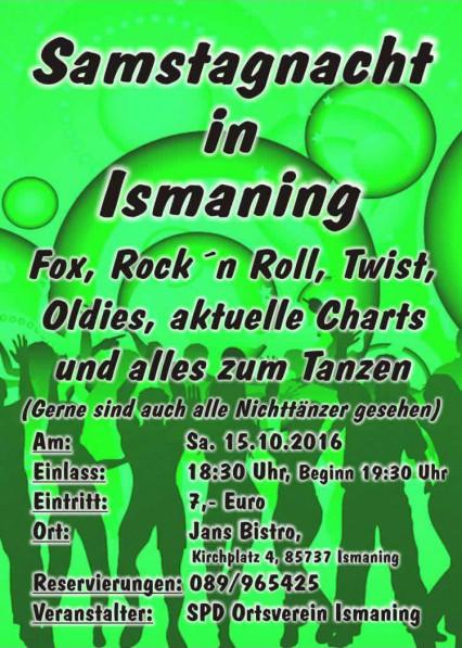 Plakat Ismaninger Nacht