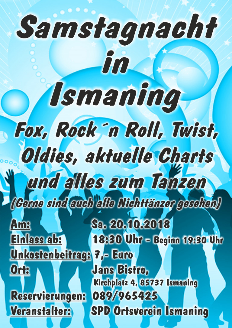Samstagnacht in Ismaning am 20.10.2018 @ Jans Bistro